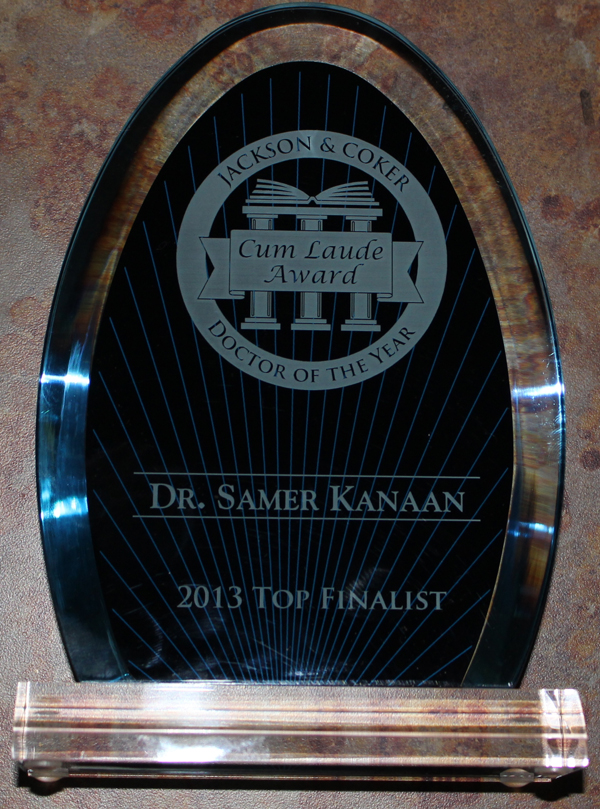 Doctor of the Year Finalist, 2013